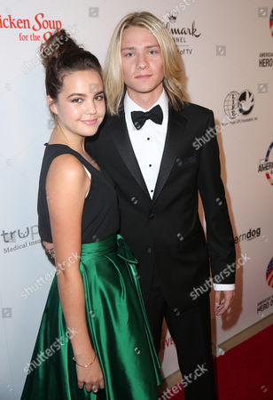 Bailee Madison, left, and Lou Wegner attend the American Humane Association's 4th Annual 'Hero Dog Awards'? at the Beverly Hilton Hotel, in Beverly Hills, Calif