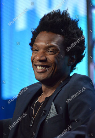 """Seaton Smith speaks on stage during the """"Mulaney"""" panel at the The FOX 2014 Summer TCA held at the Beverly Hilton Hotel, in Beverly Hills, Calif"""
