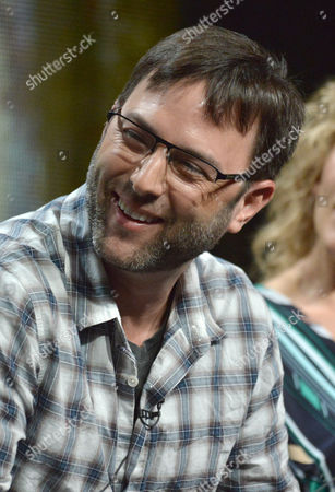 """Executive Producer Mark Goffman speaks on stage during the """"Sleepy Hollow"""" panel at the The FOX 2014 Summer TCA held at the Beverly Hilton Hotel, in Beverly Hills, Calif"""