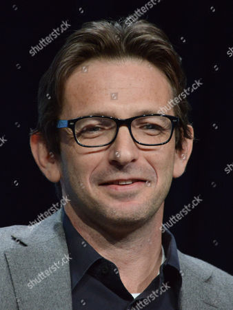 """Executive Producer Dan Futterman speaks on stage during the """"Gracepoint"""" panel at the The FOX 2014 Summer TCA held at the Beverly Hilton Hotel, in Beverly Hills, Calif"""