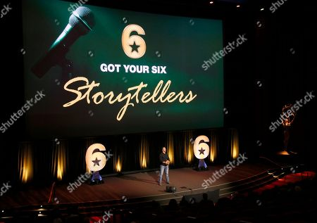 """Stock Picture of Jeff Bosley speaks at the Got Your 6 """"Storytellers"""" event, in advance of Veteran's Day at the Television Academy's Wolf Theatre at the Saban Media Center, in North Hollywood, Calif"""