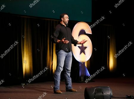 """Jeff Bosley speaks at the Got Your 6 """"Storytellers"""" event, in advance of Veteran's Day at the Television Academy's Wolf Theatre at the Saban Media Center, in North Hollywood, Calif"""