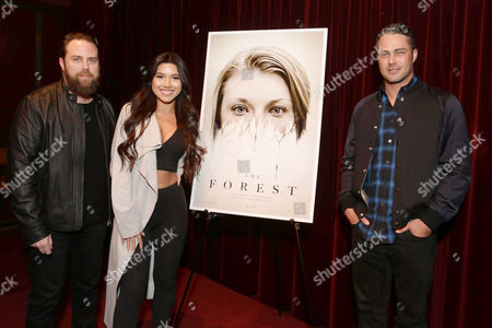 Exclusive - Director Jason Zada, Julia Kelly and Taylor Kinney seen at Gramercy Pictures Special screening of 'The Forest', in West Hollywood, CA