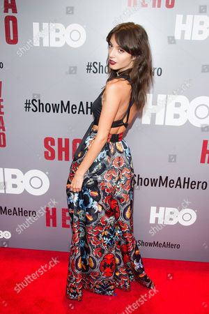 "Carla Quevedo attends a special screening of HBO's ""Show Me A Hero"" miniseries at The New York Times Center, in New York"