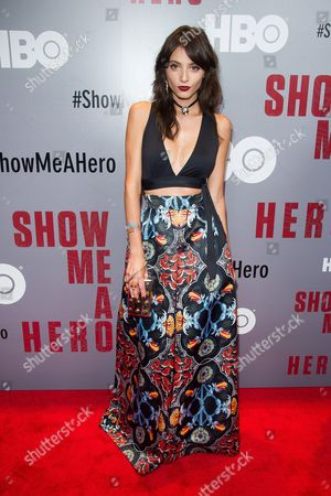 "Stock Picture of Carla Quevedo attends a special screening of HBO's ""Show Me A Hero"" miniseries at The New York Times Center, in New York"
