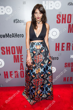 """Stock Photo of Carla Quevedo attends a special screening of HBO's """"Show Me A Hero"""" miniseries at The New York Times Center, in New York"""