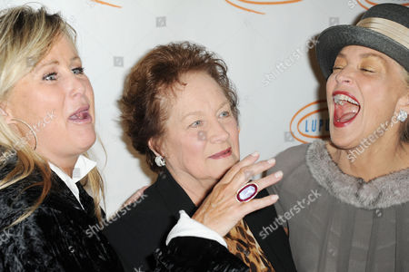 Kelly Stone, from left, Dorothy Stone, and Sharon Stone attend Lupus LA's Hollywood Bag Ladies Luncheon at the Beverly Wilshire Hotel, in Beverly Hills, Calif