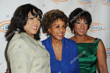 Jackee Harry, Marla Gibbs, and Carolyn Folks attend Lupus LA's Hollywood Bag Ladies Luncheon at the Beverly Wilshire Hotel, in Beverly Hills, Calif