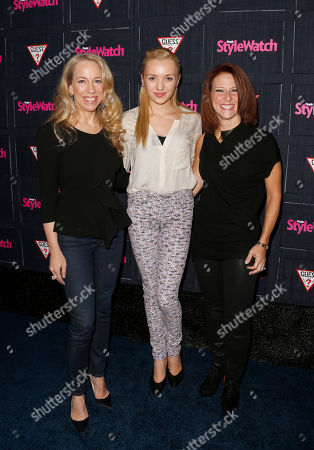 Managing Editor of StyleWatch Susan Kaufman, Peyton List and Publisher of StyleWatch Stephanie Sladkus attend The Hollywood Denim Party at Palihouse, in West Hollywood