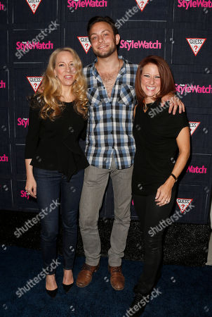 Managing Editor of StyleWatch Susan Kaufman, Jonathan Sadowski and Publisher of StyleWatch Stephanie Sladkus attend The Hollywood Denim Party at Palihouse, in West Hollywood
