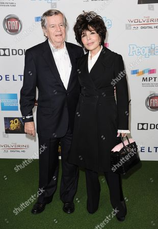 Bob Daly, left, and Carole Bayer Sager arrive at the Hugh Jackman One Night Only at the Dolby Theatre on in Los Angeles