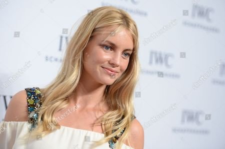 """Model Elyse Taylor attends IWC Schaffhausen's """"For the Love of Cinema"""" Tribeca Film Festival gala dinner at Spring Street Studios, in New York"""