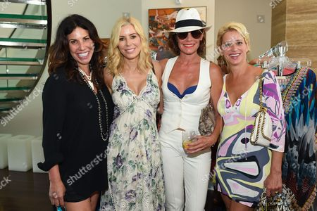 L-R) Cindy Barshop, Aviva Drescher, LuAnn de Leeseps, and Dorinda Medley attend Jill Zarin's 3rd Annual Private Luxury Benefit Luncheon in Southampton, in New York