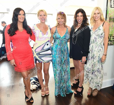 L-R) Patti Stanger, Dorinda Medley, Jill Zarin, Cindy Barshop, and Aviva Drescher attend Jill Zarin's 3rd Annual Private Luxury Benefit Luncheon in Southampton, in New York
