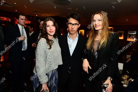 Lily Lewis, Edward Tang and Masha Markova Hanson and guests seen at Johnnie Walker Blue Label Dinner at China Tang, The Dorchester on Wednesday, May, 15, 3013 in London