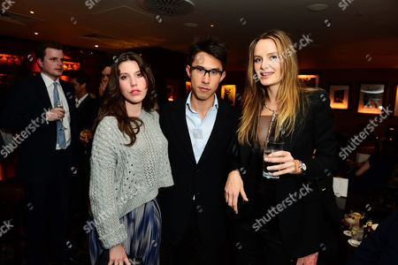 Lily Lewis, Edward Tang and Masha Markova Hanson seen at Johnnie Walker Blue Label Dinner at China Tang, The Dorchester on Wednesday, May, 15, 3013 in London