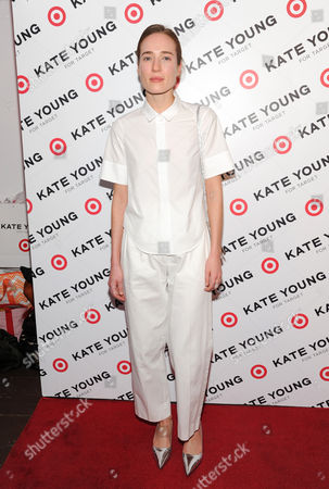 Stock Picture of Daphne Javitch attends a party to celebrate stylist Kate Young's collaboration with Target at Old School on in New York