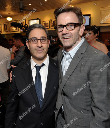 Untitled Entertainment's Jason Weinberg, left, and Dreamworks' Chip Sullivan attend Kiehl's Earth Day Celebration with Zachary Quinto and Alanis Morissette at Kiehl's, in Santa Monica, Calif