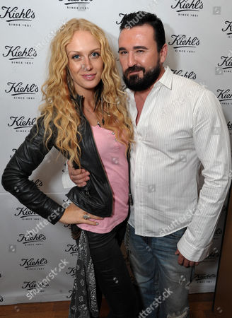TV personality CariDee English, left, and Chris Salgardo, President, Kiehl's USA, attend Kiehl's Earth Day Celebration with Zachary Quinto and Alanis Morissette at Kiehl's, in Santa Monica, Calif
