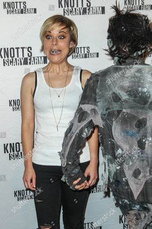 Tina Majorino attends the Knott's Scary Farm Black Carpet event on in Buena Park, Calif