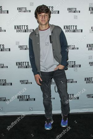 Jake Short attends the Knott's Scary Farm Black Carpet event on in Buena Park, Calif