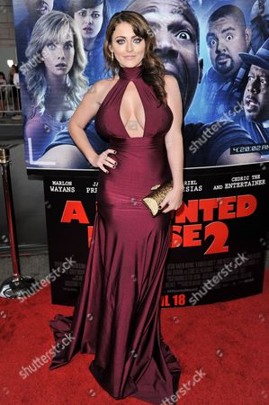 """Stock Photo of Kirsty Hill arrives at the LA Premiere Of """"A Haunted House 2"""" on in Los Angeles"""