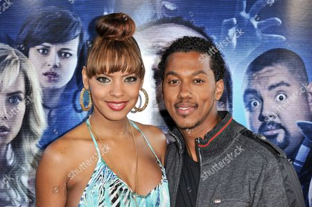 """Stock Photo of Wesley Jonathan, right, arrives at the LA Premiere Of """"A Haunted House 2"""" on in Los Angeles"""