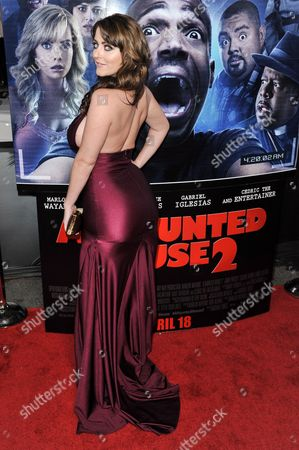 Stock Picture of Kirsty Hill arrives at the LA Premiere Of 'A Haunted House 2' on in Los Angeles