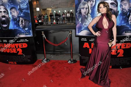 "Kirsty Hill arrives at the LA Premiere Of ""A Haunted House 2"" on in Los Angeles"
