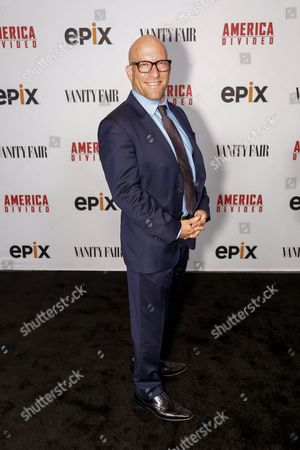 """Solly Granatstein arrives at the LA Premiere of """"America Divided"""" at The Billy Wilder Theater, in Westwood, Calif"""