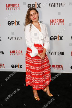 """Stock Image of Sarah Blakley Cartwright arrives at the LA Premiere of """"America Divided"""" at The Billy Wilder Theater, in Westwood, Calif"""
