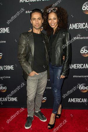 "Kamar de los Reyes, left, and Sherri Saum attend the LA Premiere of ""American Crime"" on in Los Angeles"