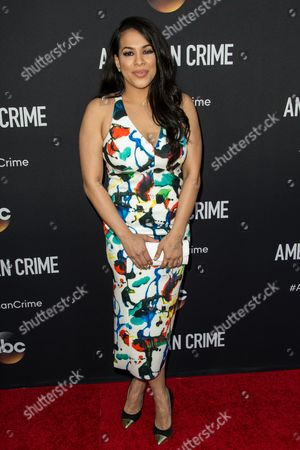 "Gleendilys Inoa attends the LA Premiere of ""American Crime"" on in Los Angeles"