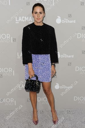"""Stock Image of Nikki Pennie arrives at the LA Premiere Of """"DIOR & I"""" held at the Leo S. Bing Theatre, in Los Angeles"""