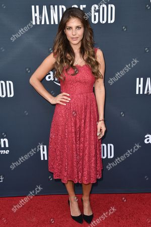"""Weronika Rosati arrives at the Premiere of """"Hand of God"""" held at the Ace Hotel, in Los Angeles"""
