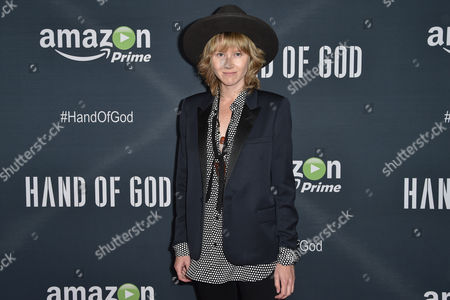 """Stock Photo of Krystal Simpson arrives at the Premiere of """"Hand of God"""" held at the Ace Hotel, in Los Angeles"""