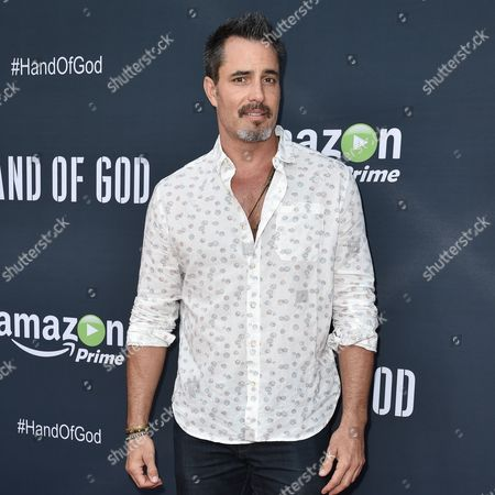 "Victor Webster arrives at the Premiere of ""Hand of God"" held at the Ace Hotel, in Los Angeles"