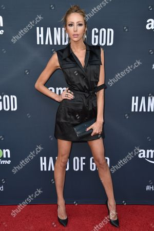 "Julia Levy Boeken arrives at the Premiere of ""Hand of God"" held at the Ace Hotel, in Los Angeles"