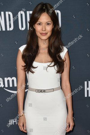 """Elaine Tan arrives at the Premiere of """"Hand of God"""" held at the Ace Hotel, in Los Angeles"""