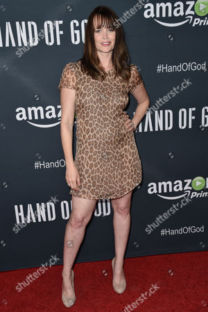 """Sprague Grayden arrives at the Premiere of """"Hand of God"""" held at the Ace Hotel, in Los Angeles"""