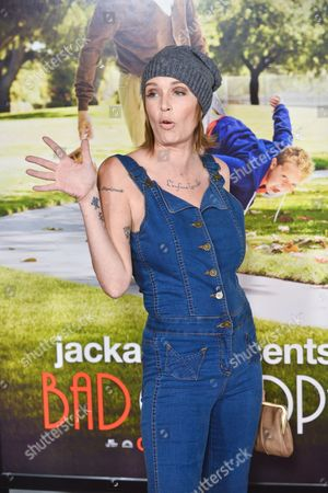 "Georgina Cates arrives at the premiere of ""Jackass Presents Bad Grandpa"" at the TCL Chinese Theatre on in Los Angeles"
