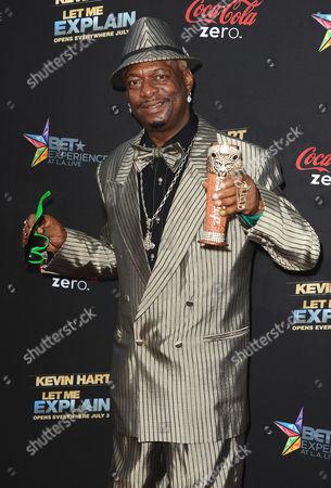 "Bishop Don Juan arrives at the LA premiere of ""Kevin Hart: Let Me Explain"" at the Regal Cinemas at L.A. Live on in Los Angeles"