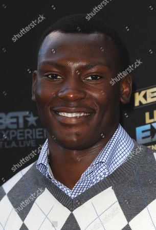 """Bismack Biyombo arrives at the LA premiere of """"Kevin Hart: Let Me Explain"""" at the Regal Cinemas at L.A. Live on in Los Angeles"""