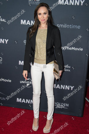"""Stock Picture of Yulia Klass attends the Los Angeles Premiere of """"Manny"""" at the TCL Chinese Theatre, in Los Angeles"""