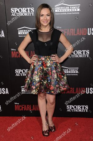 """Vanessa Martinez arrives at the LA Premiere Of """"McFARLAND, USA"""", in Los Angeles"""