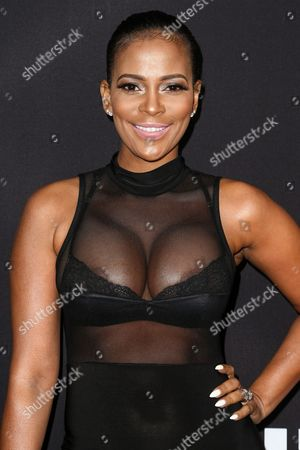 """Sundy Carter attends the LA Premiere of """"Meet the Blacks"""" held at ArcLight Hollywood, in Los Angeles"""