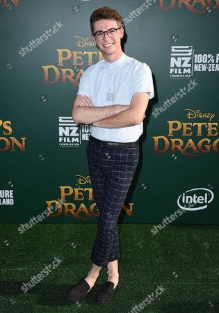 "Jordan Doww arrives at the Los Angeles premiere of ""Pete's Dragon"" at the El Capitan Theatre on"