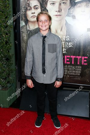 """Stock Photo of Tate Berney attends the LA Premiere of """"Suffragette"""" held at Samuel Goldwyn Theater at AMPAS, in Beverly Hills, Calif"""