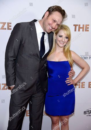 "Winston Rauch and his wife Melissa Rauch, co-writers of ""The Bronze,"" pose together at the premiere of the film ""The Bronze"" at the Pacific Design Center, in West Hollywood, Calif"