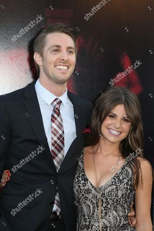 "Ryan Shoos, left, and Pfeifer Brown arrive at the LA Premiere of ""The Gallows"" at Hollywood High School on in Los Angeles"